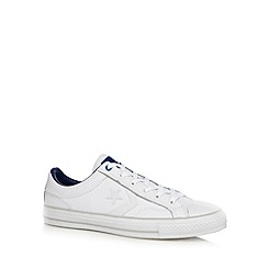 Converse - White 'Star Player' leather trainers