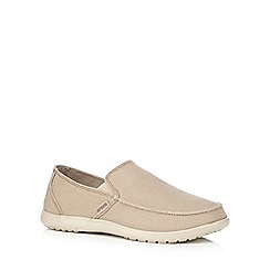 Crocs - Beige 'Santa Cruz' loafers
