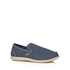 Crocs - Navy 'Santa Cruz' loafers
