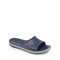 Crocs - Navy one band slip-on sandals