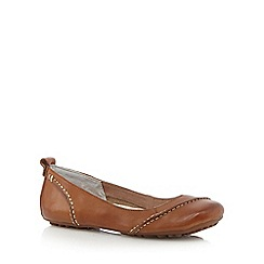 Hush Puppies - Tan 'Janessa' ballerina pumps