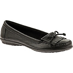 Hush Puppies - Black 'Ceil' slip-on shoes