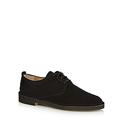 Clarks - Black suede lace up smart shoes