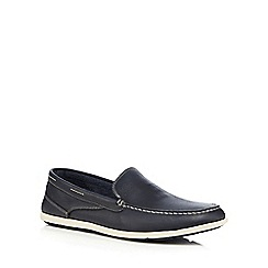 Rockport - Navy 'Cape Noble 3 Venetian' slip on shoes