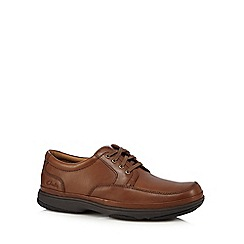 Clarks - Tan leather 'Swift Mile' lace up shoes