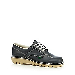 Kickers - Navy leather lace up shoes