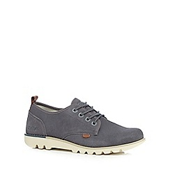Kickers - Grey suede 'Losuma' lace up shoes