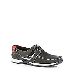 Chatham Marine - Navy suede 'Goodison' lace up boat shoes