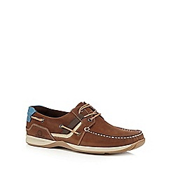Chatham Marine - Tan suede 'Goodison' lace up boat shoes