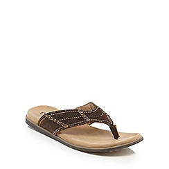 Chatham Marine - Brown textured flip flops