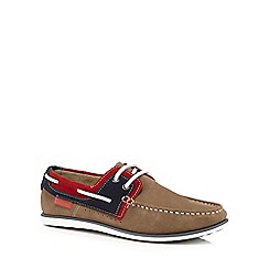 Chatham Marine - Taupe 'Sailmaker' boat shoes