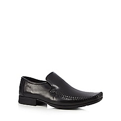 Clarks - Black 'Ferro step' formal slip-on shoes