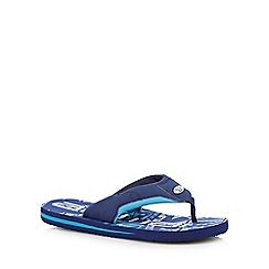 Animal - Navy soft toe flip flops