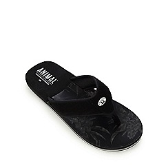 Animal - Black soft toe flip flops