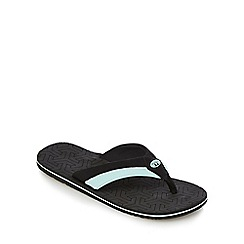 Animal - Black striped flip flops