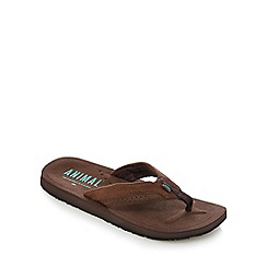 Animal - Brown textured flip flops