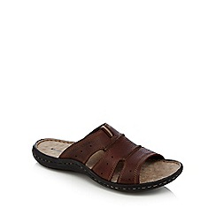 Hush Puppies - Brown 'Anton Santo' mule sandals