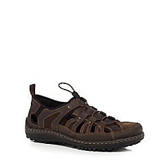 Hush Puppies - Brown 'Belfast Fisherman' sandals