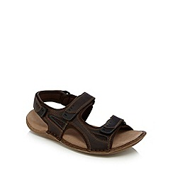 Hush Puppies - Brown 'Rawson Grady' walking sandals