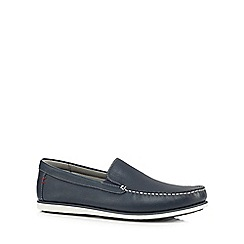 Hush Puppies - Navy 'Bob Portland' slip-on shoes