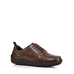 Hush Puppies - Brown 'Belfast Oxford' sandals