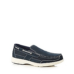 Hush Puppies - Navy boat shoes