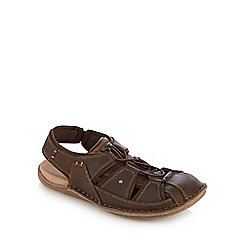 Hush Puppies - Brown 'Bergen Grady' sandals