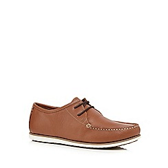 Hush Puppies - Tan leather 'Briggs Portland' slip-on shoes