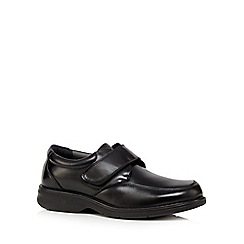 Hush Puppies - Black leather 'Boyd Stone' shoes