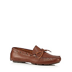 Hush Puppies - Tan leather slip-on shoes
