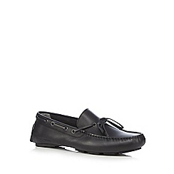 Hush Puppies - Black 'Roman Monaco' slip-on shoes