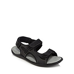Hush Puppies - Black leather 'Rawson Grady' sandals