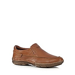 Hush Puppies - Tan leather 'Briggs Tallon' slip-on shoes