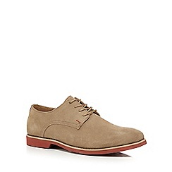 Hush Puppies - Taupe suede 'Cordes Ez Dress' Derby shoes