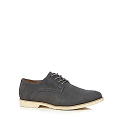 Hush Puppies - Navy suede 'Cordes Ez Dress' Derby shoes