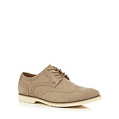 Hush Puppies - Taupe leather 'Fowler Ez' brogues