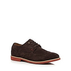 Hush Puppies - Dark brown leather 'Fowler Ez' brogues
