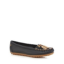 Hush Puppies - Black 'Tasha Create' slip-on shoes
