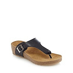 Hush Puppies - Black 'Tickle Sooth' slip-on sandals