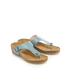 Hush Puppies - Light blue 'Tickle Sooth' slip-on sandals