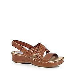 Hush Puppies - Tan 'Ceylon sling' sandals