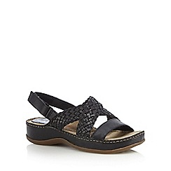 Hush Puppies - Black 'Ceylon' sling back sandals