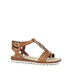 Hush Puppies - Tan 'Bretta Jade' sandals