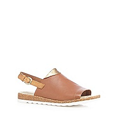 Hush Puppies - Tan 'Nannette' sling back sandals