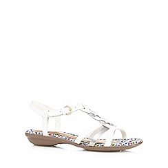 Hush Puppies - White 'Nishi' T-strap sandals