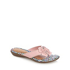 Hush Puppies - Light pink applique flip flops