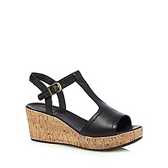 Hush Puppies - Black 'Blakely Durante' high wedge sandals