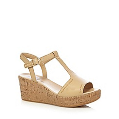 Hush Puppies - Tan 'Blakely Durante' mid wedge sandals