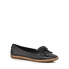 Hush Puppies - Black 'Adena' slip-on shoes