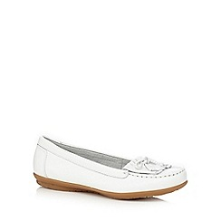 Hush Puppies - White 'Ceil' slip-on shoes